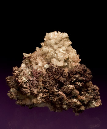 Copper and Calcite Tsumeb Namibia cabinet specimen
