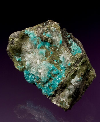 Aurichalcite with Austinite Ojuela Mine Mapimi Mexico small cabinet