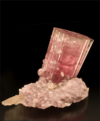 Tourmaline bubble-gum pink with Lepidolite Paprok Afghanistan